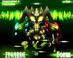 Pokemon: Zygarde - Forms by Cleasia