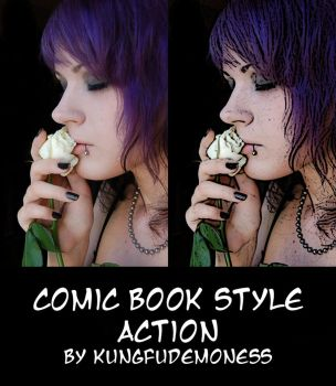 Comic book photoshop action by kungfudemoness