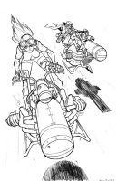 Riders_clean pencils by s2ka