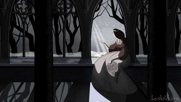 Once Upon A Time - Snow's Mom at the Window by becsketch
