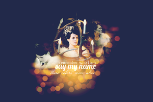 Remember who I Am and Say My Name. by wtfan