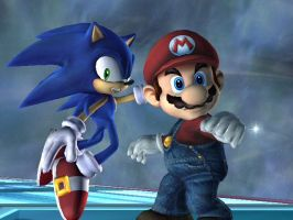 Mario and Sonic Brawl by pksoldierX