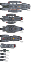 BSG Size Comparison No.1 by Barricade