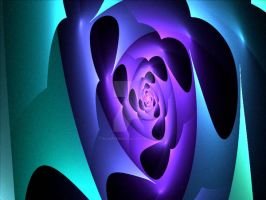 the rose in the cavern by bluartdesign2012