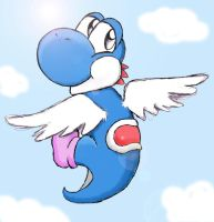 blue fly yoshi by shiroiwolf