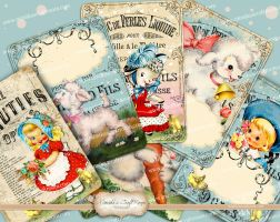 Retro-Easter-ACEO-ATC-Cards by mimikascraftroom