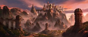Fantasy City by jonathanguzi