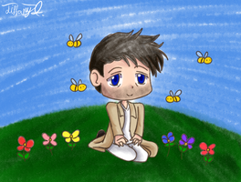SPN - Cas and the Bees by iTiffanyBlue