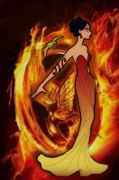Katniss on Fire by MockingjayFly