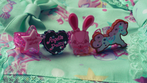 Angelic Pretty rings. by CuteHime