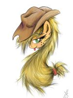 Apple Jack smile by YKChiropter