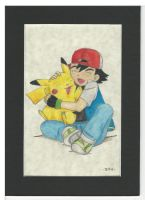 Ash and Pikachu GIMME A HUG!! by FTSArts