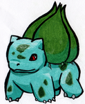 Pokemonathon 001: Bulbasaur by VenusRain