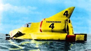 Vintage Thunderbird 4. For you Gerry Anderson by stick-man-11