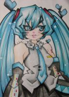 Another Miku Drawing by PhantomButler