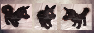 Schipperke plush by darkpheonixchild