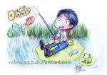 Ohno has gone fishing by Rebecca13