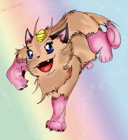 Shiny meowth by KillerSandy