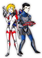 Mass Effect Color version by Kahori