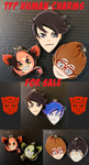 TFP Human Charms for Sale! by Karra-shi
