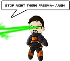 Gordon Freeman 'n Lasers by Boltstriker
