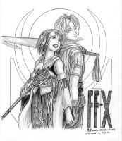 Tidus and Yuna commission by RedShoulder