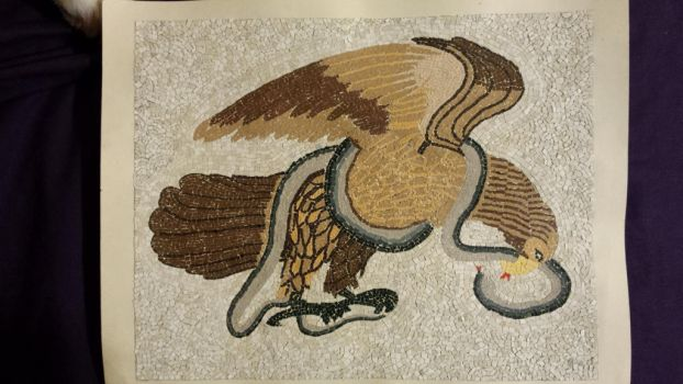 Constantinople Eagle with Snake by slbxyz