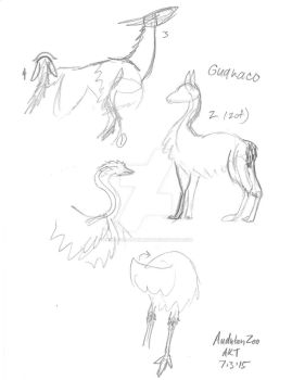 Zoo Sketches July, Two by Paws-for-a-Moment