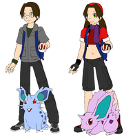 Pokemon trainers Susan and Sam by Zyla12