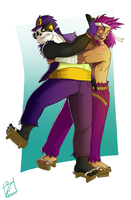 Panda hug - commission by iisjah