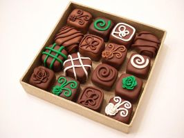 Chocolate Magnets 2 by KimsButterflyGarden