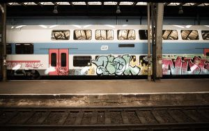 wallpaper graffiti train by clavette33