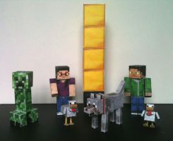 Minecraft-Papercraft by rockingyourstar