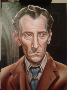 Peter Cushing as Van Helsing by Screwdriverbob