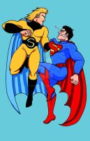 Superman vs The Sentry by Drakelb