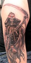 grim reaper by tattoomary