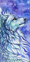 Spirit wolf bookmark by wolf-minori
