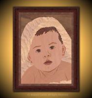 Baby Portrait - Marquetry by amazoncanvas