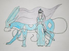 Suicune and Priestess by jessie101695