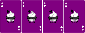 Ace Deck 56: Cupcake+Purple+White by Galadnilien