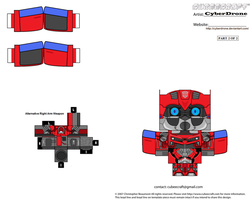 Cubee - Cliffjumper 'Movie' b by CyberDrone