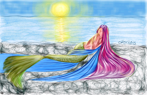 Sketch Guru - Mermaid -1- by rroxyann