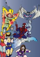 X-Men Feat. Spider-man by DgWaldo