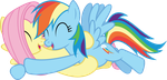 [Vector] Rainbow Dash and Fluttershy by DerAtrox