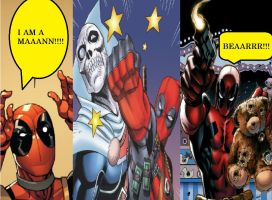 Deadpool Is A Man With A Bear by V1EWT1FUL
