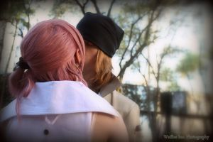 Serah x Snow - In The Distance by seethroughcrew