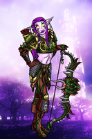 Sylene as a Nightelf Hunter by MistDragon