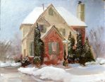Christmas Painting by AaronMiller