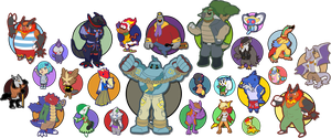 The PKMC Cast by Pokemon-Diamond