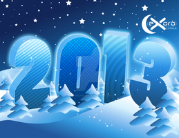 Exoro Choice's 2013 New Year Wishing Cards 22 by ExoroDesigns